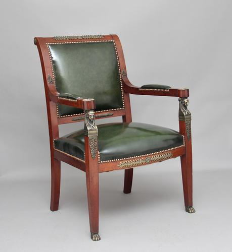 19th Century Mahogany & Ormolu Armchair (1 of 1)