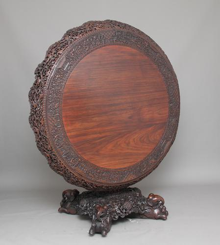 19th Century Highly Carved Center Table (1 of 1)