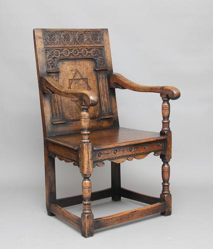 Early 20th Century Oak Wainscot Chair c.1920 (1 of 1)