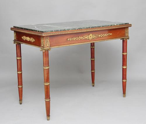19th Century Mahogany & Ormolu Mounted Center Table (1 of 11)