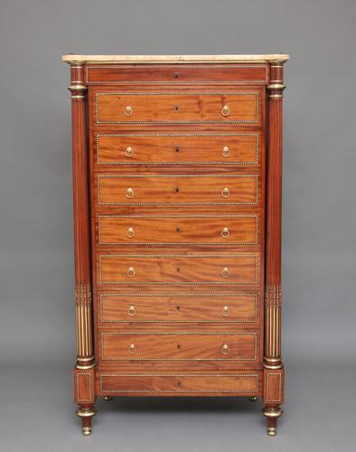 19th Century French Mahogany Semanier Chest (1 of 1)
