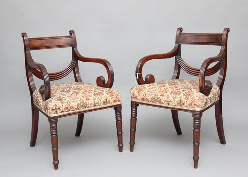 Pair of 19th Century Mahogany Armchairs (1 of 1)