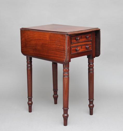 19th Century Mahogany Drop Leaf Table (1 of 1)