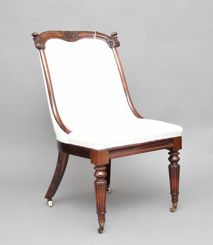 19th Century Rosewood Slipper Chair (1 of 1)