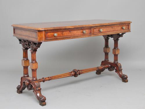 19th Century Walnut Writing / Sofa Table (1 of 1)