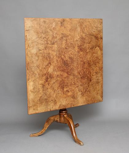 19th Century Burr Alder Supper Table (1 of 1)