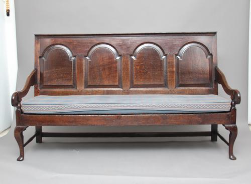 18th Century Oak Settle (1 of 1)