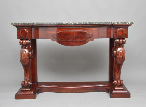 19th Century Mahogany Console Table (1 of 1)