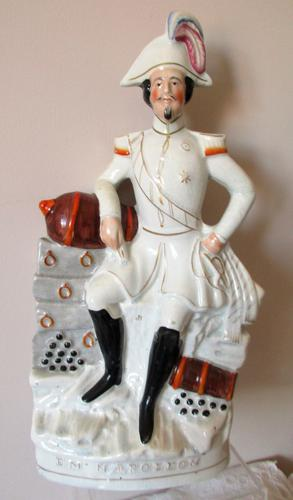 Antique English Victorian Staffordshire Pottery Royal Portrait Figure ~ Napoleon III (1 of 5)