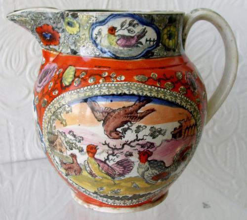 Antique English Georgian Pearlware Jug / Pitcher (1 of 1)