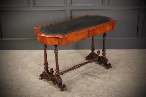Victorian Burr Walnut Library Table (1 of 15)