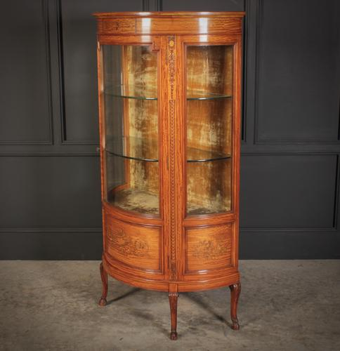 Fine Marquetry Inlaid Satinwood Cabinet by Jas Shoolbred (1 of 14)