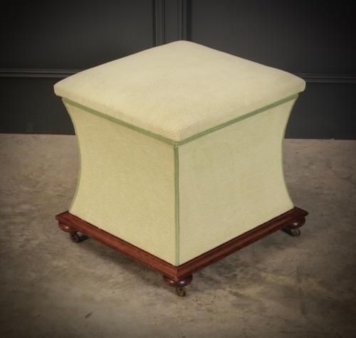 Regency Shaped Upholstered Ottoman (1 of 9)