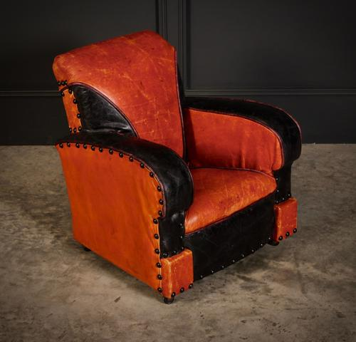 Rare Art Deco Style Leather Childs Club Chair (1 of 8)
