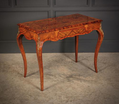Walnut Marquetry Inlaid Side Table c.1880 (1 of 16)