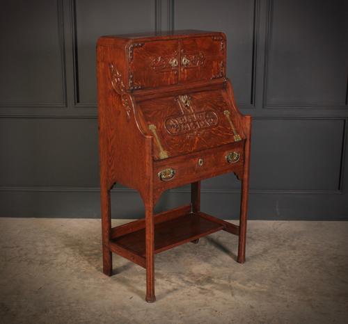 Art Nouveau Oak Bureau (1 of 16)