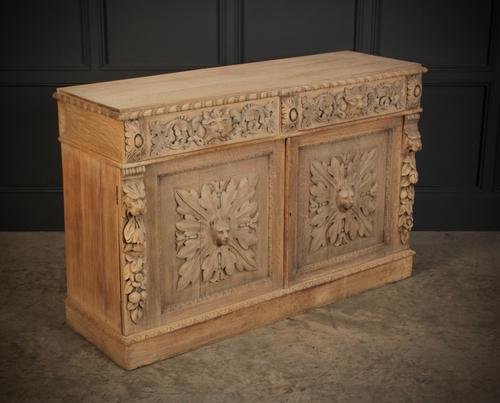 Bleached Oak Side Cabinet c.1880 (1 of 20)