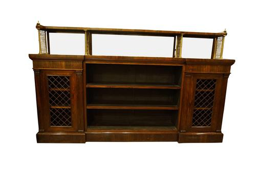 Rosewood & Brass Open Bookcase c.1815 (1 of 6)