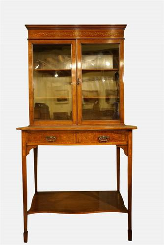 Mahogany & Marquetry Cabinet on Stand c.1900 (1 of 6)