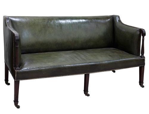 George III Leather Sofa (1 of 5)