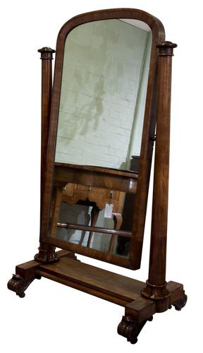 William IV Mahogany Cheval Mirror (1 of 7)