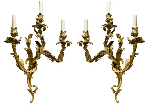 Pair of French Ormolu Wall Sconces (1 of 6)