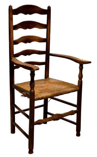 Ash Ladderback Armchair c.1850 (1 of 6)