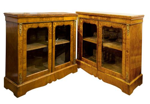 Superb Pair of English Pier Cabinets (1 of 9)