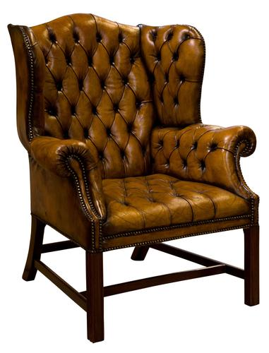 18th Century Style Leather Wing Chair c.1900 (1 of 6)