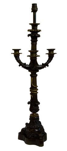 Fine Charles X Bronze Candelabrum (1 of 6)