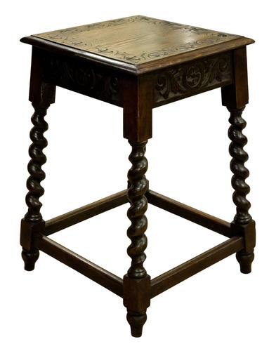 Carved Oak Occasional Table c.1880 (1 of 6)