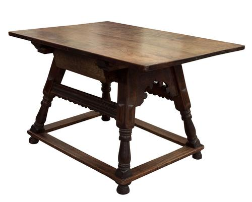Swiss Cherrywood Marriage Table Dated 1804 (1 of 6)