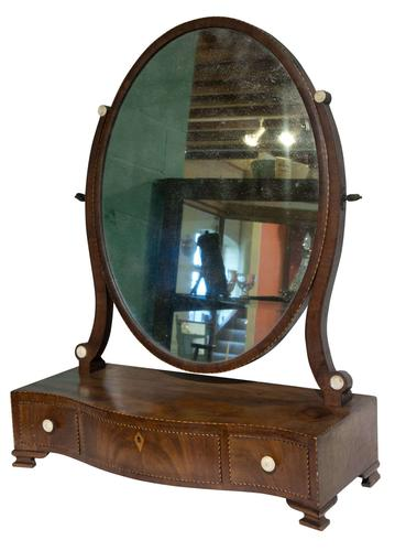 18th Century Serpentine Fronted Dressing Table Mirror c.1770 (1 of 3)