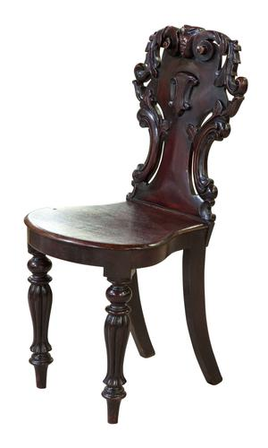 William IV Mahogany Hall Chair with Shield Back (1 of 6)