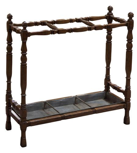 19th Century Oak Stick Stand in Arts & Crafts Style c.1880 (1 of 5)