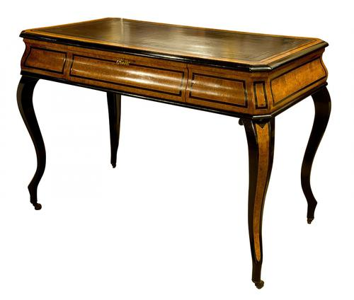 French Amboyna & Ebony Writing Table (1 of 7)