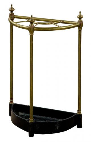 Brass Demi-Lune Umbrella Stand (1 of 5)