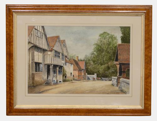 19th Century Watercolour of 'The Olde Tigers Head' (1 of 3)