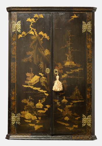 18th Century Dutch Chinoiserie Corner Cupboard (1 of 1)