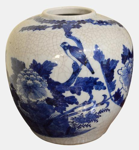 19th Century Chinese Crackleware Jar (1 of 4)