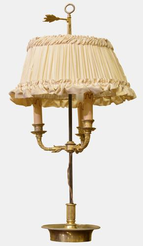 19th Century Gilt Bronze French Bouillote Lamp (1 of 1)