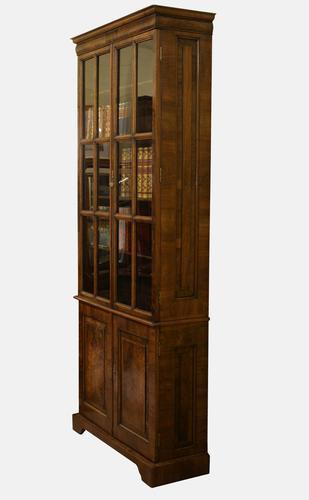 19th Century Queen Anne Walnut Bookcase c.1870 (1 of 1)