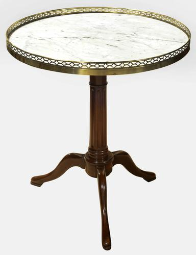 Circular French Gueridon Table with Marble Top c.1900 (1 of 1)