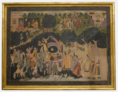 Large Indian Painting on Fabric c.1880 (1 of 1)