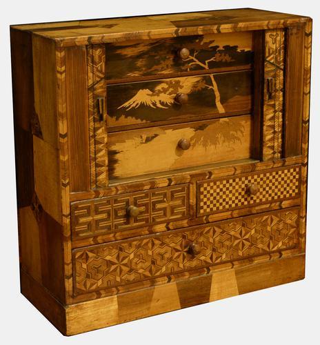 Multi-wood Miniature Set of Drawers c.1910 (1 of 1)