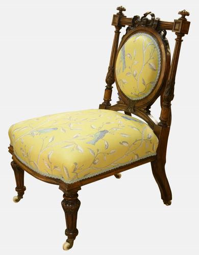 Nursing Chair in Sanderson Fabric (1 of 1)