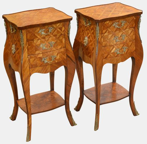 Pair of French Parquetry Bomb Chests c.1920 (1 of 5)