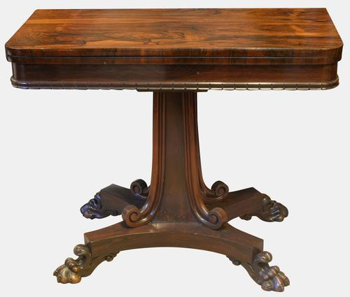 Rosewood Card Table Stamped William Priest c.1830 (1 of 10)