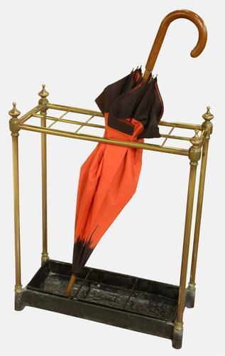 Victorian Brass Umbrella / Stick Stand (1 of 1)