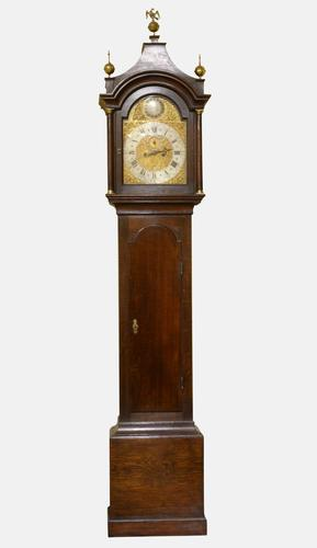 North Country Brass Dial Oak Longcase Clock c.1765 (1 of 6)